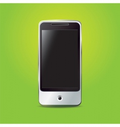Smartphone on the green vector