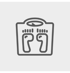 Weighing scale thin line icon vector
