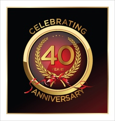 40 years anniversary label vector
