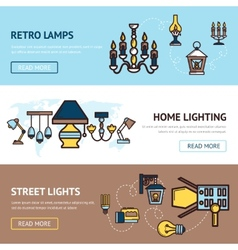 Light banners set vector