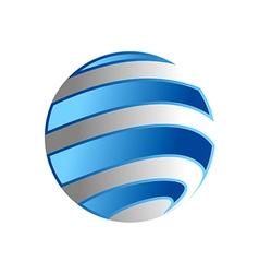 Globe planet earth logo vector