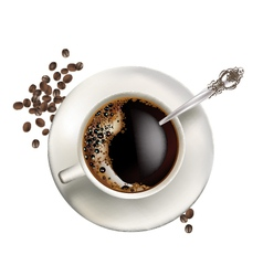 Cup of coffee realistic vector