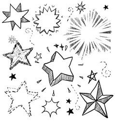 Doodle stars vector