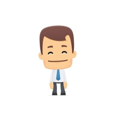 Manager in various poses vector