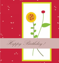 Happy birthday with flower beautiful vector