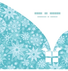 Decorative snowflake frost christmas gift box vector