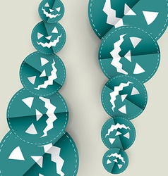 Blue halloween design vector