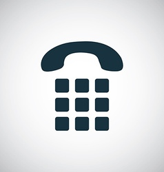 Phone dial icon vector