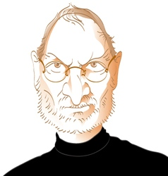 Steve jobs caricature vector
