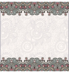 Ornate floral background with ornament stripe vector