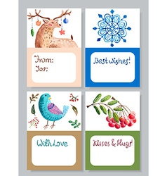 Watercolor beautiful gift cards collection vector