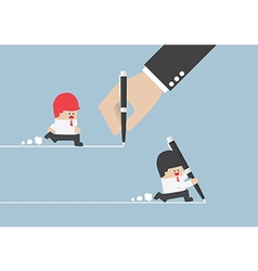 Businessman create own way to success vector