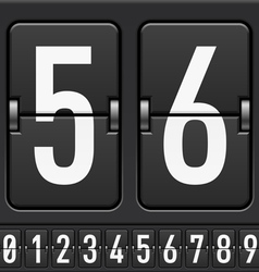 Mechanical scoreboard numbers vector