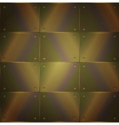 Metallic background in steampunk style vector