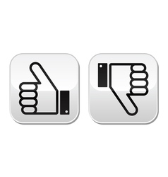 Thumb up and down buttons set - social media vector