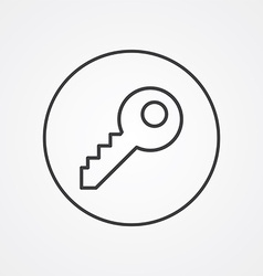 Key outline symbol dark on white background logo vector