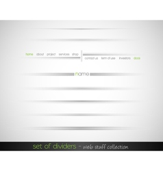 Web dividers vector