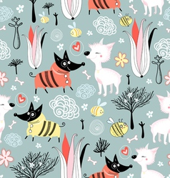 Texture dog lovers vector