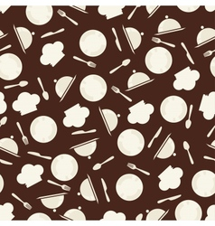 Seamless retro kitchen pattern vector