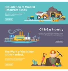 Miner banner set vector