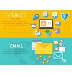 Concept of internet protection vector