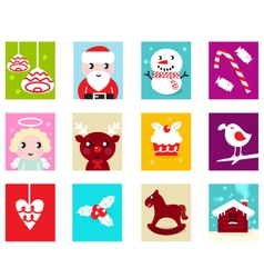 Christmas advent calendar elements 2 vector