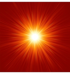 Star burst red and yellow fire eps 8 vector