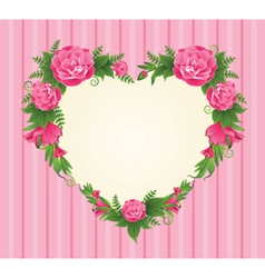 Flower border frame vector