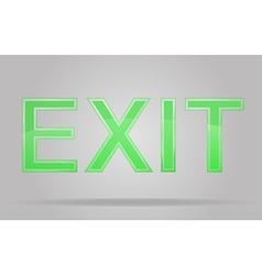 Transparent sign exit 01 vector