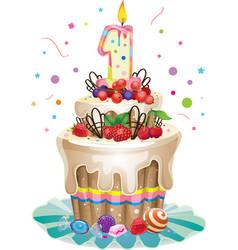 Happy birthday cake 1 vector