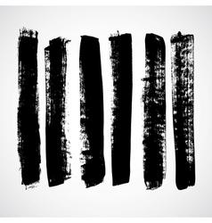 A set of grunge strokes vector