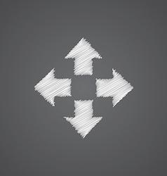 Move sketch logo doodle icon vector