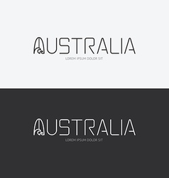Alphabet australia design concept with flat sign vector