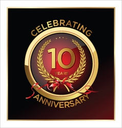 10 years anniversary label vector