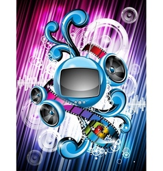 Speakers and futuristic television vector