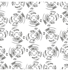 Dotted seamless pattern with circles repeating vector