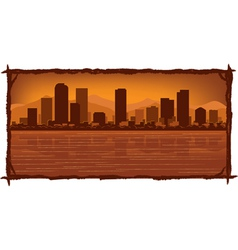 Denver skyline vector
