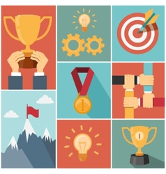 Achieving goal success concept vector