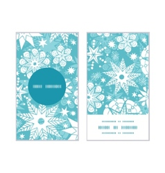 Decorative frost christmas snowflake silhouette vector