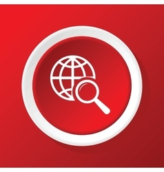 Global search icon on red vector