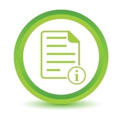 Information document volumetric icon vector