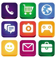 Bright app icons vector
