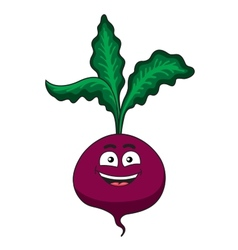 Cheerful happy cartoon beetroot vegetable vector