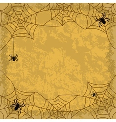 Spiders and cobwebs on wall background vector