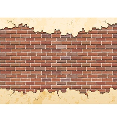 Brick wall and cracked concrete vector