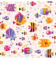 Fish sea pattern vector