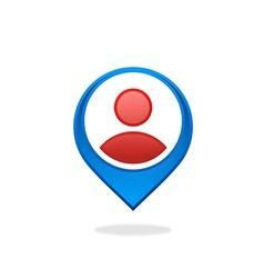 People location gps destination logo vector