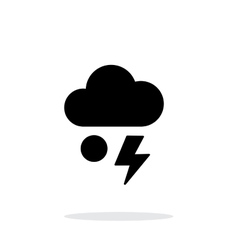 Hail with lightning weather simple icon on white vector