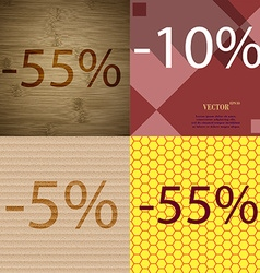 10 5 55 icon set of percent discount on abstract vector