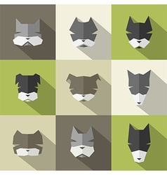 Dog breeds icons vector